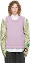 Raf Simons Purple Oversized Merino Vest