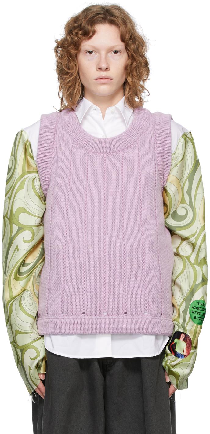 Photo: Raf Simons Purple Oversized Merino Vest