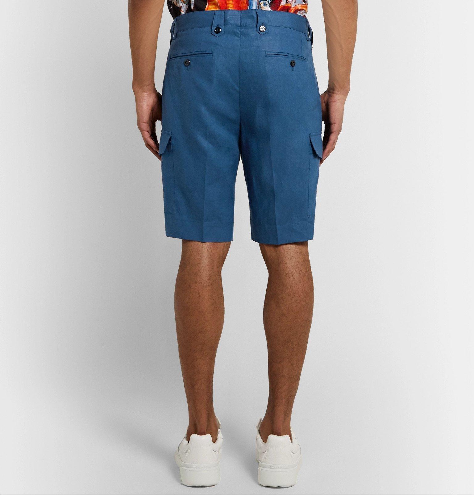 Dolce & Gabbana - Linen Shorts - Blue