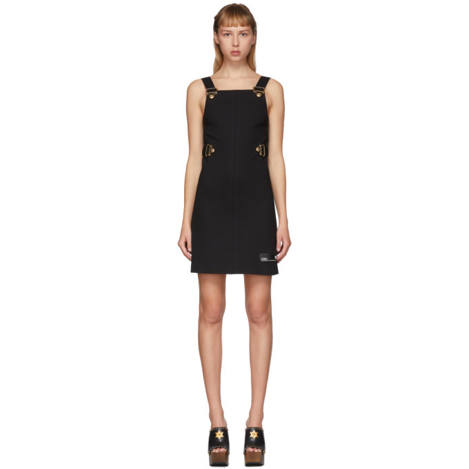 Versace Jeans Couture Black Overall Buckles Dress