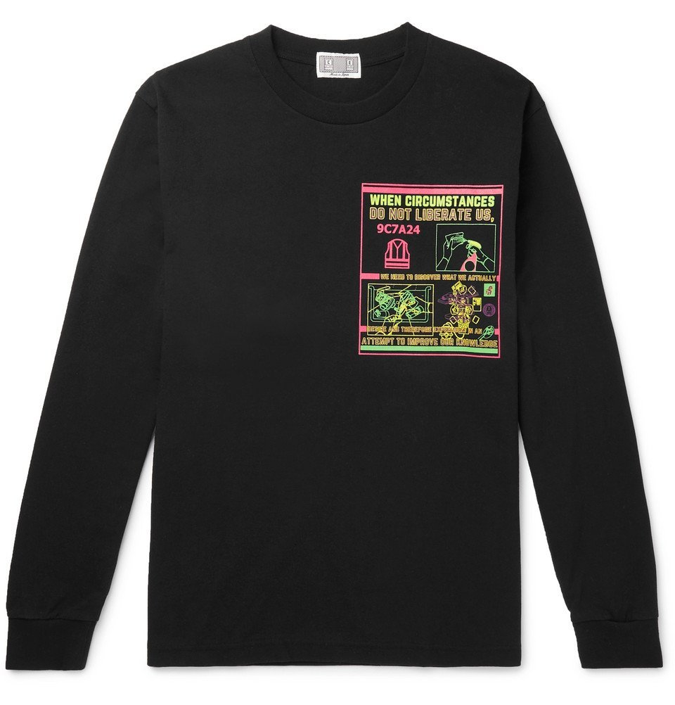 Photo: Cav Empt - Circumstances Printed Cotton-Jersey T-Shirt - Black