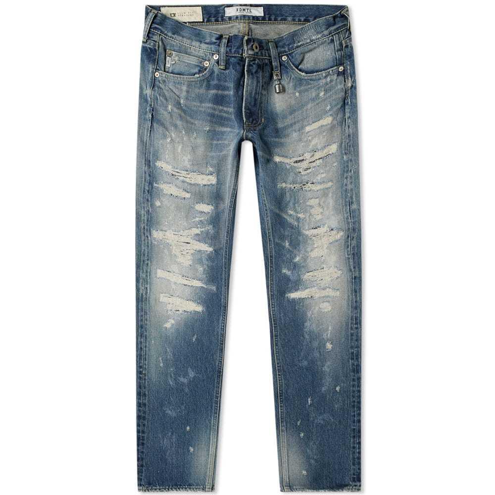 Photo: FDMTL Trace Slim Fit Distressed Denim Jean