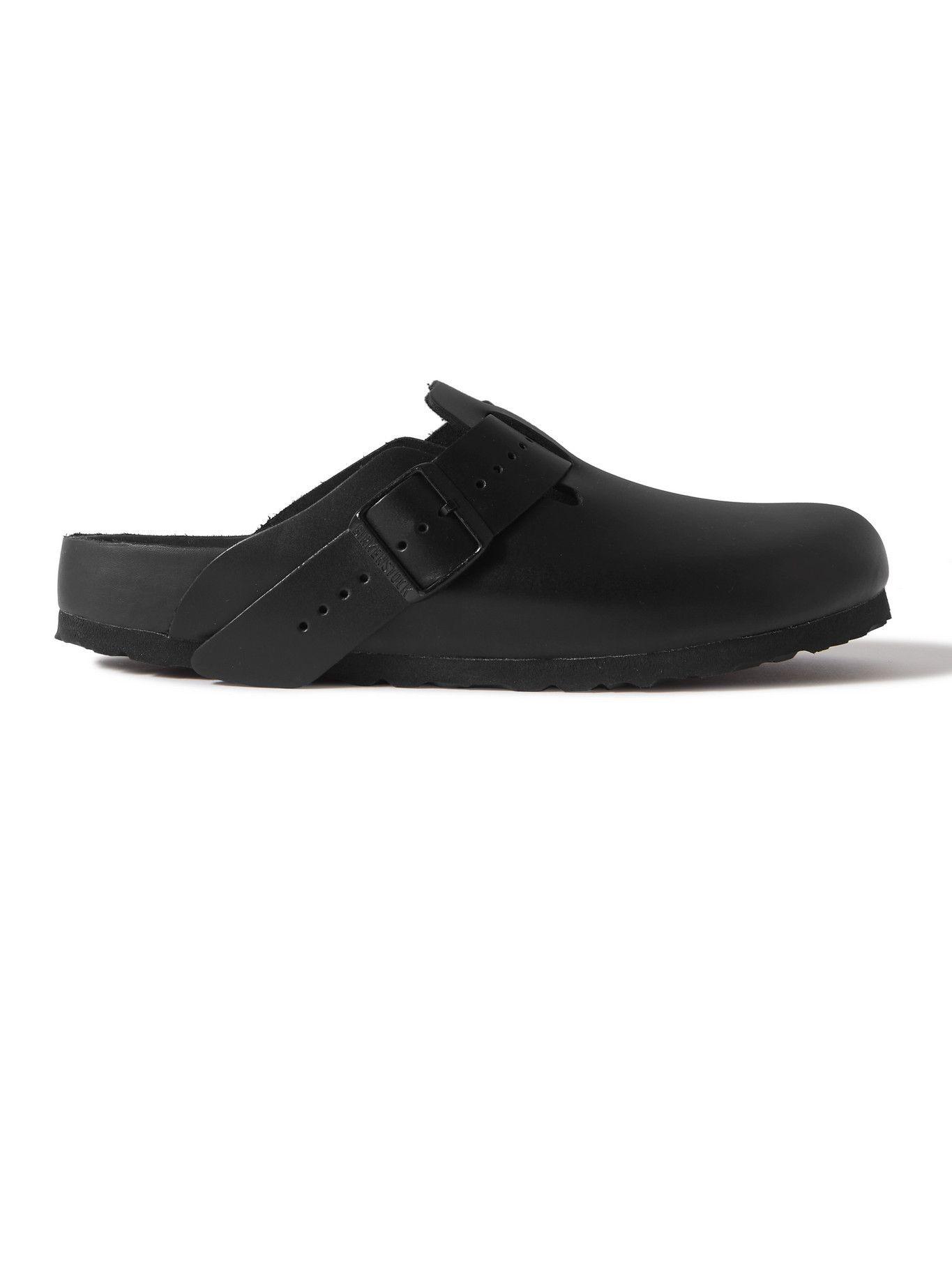 Photo: RICK OWENS - Birkenstock Boston Leather Sandals - Black
