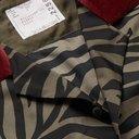 Sacai - Camp-Collar Velvet-Trimmed Printed Voile Shirt - Green