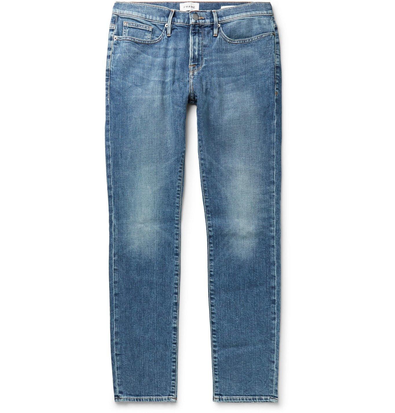 Photo: FRAME - L'Homme Skinny-Fit Denim Jeans - Blue