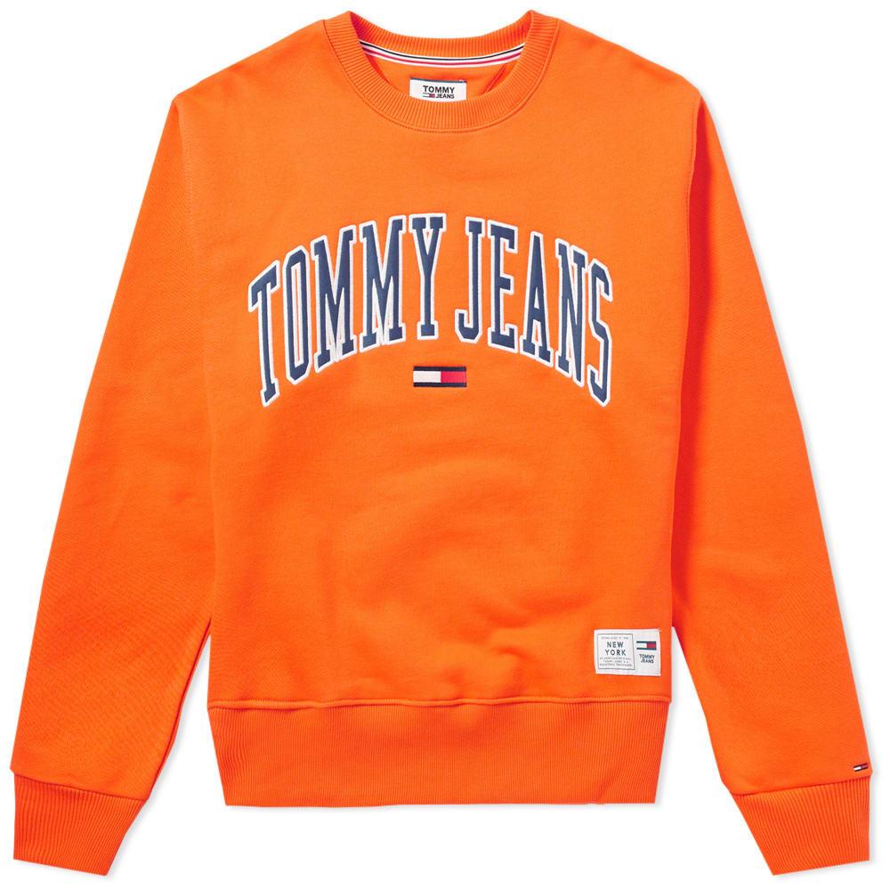 Photo: Tommy Jeans Collegiate Crew Sweat Orange