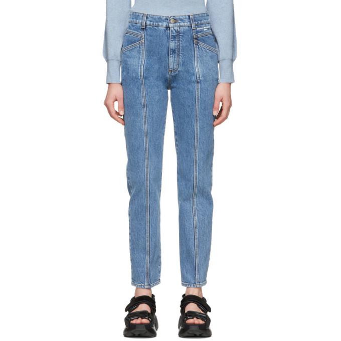 Stella McCartney Blue Vintage Wash Seam Front Jeans