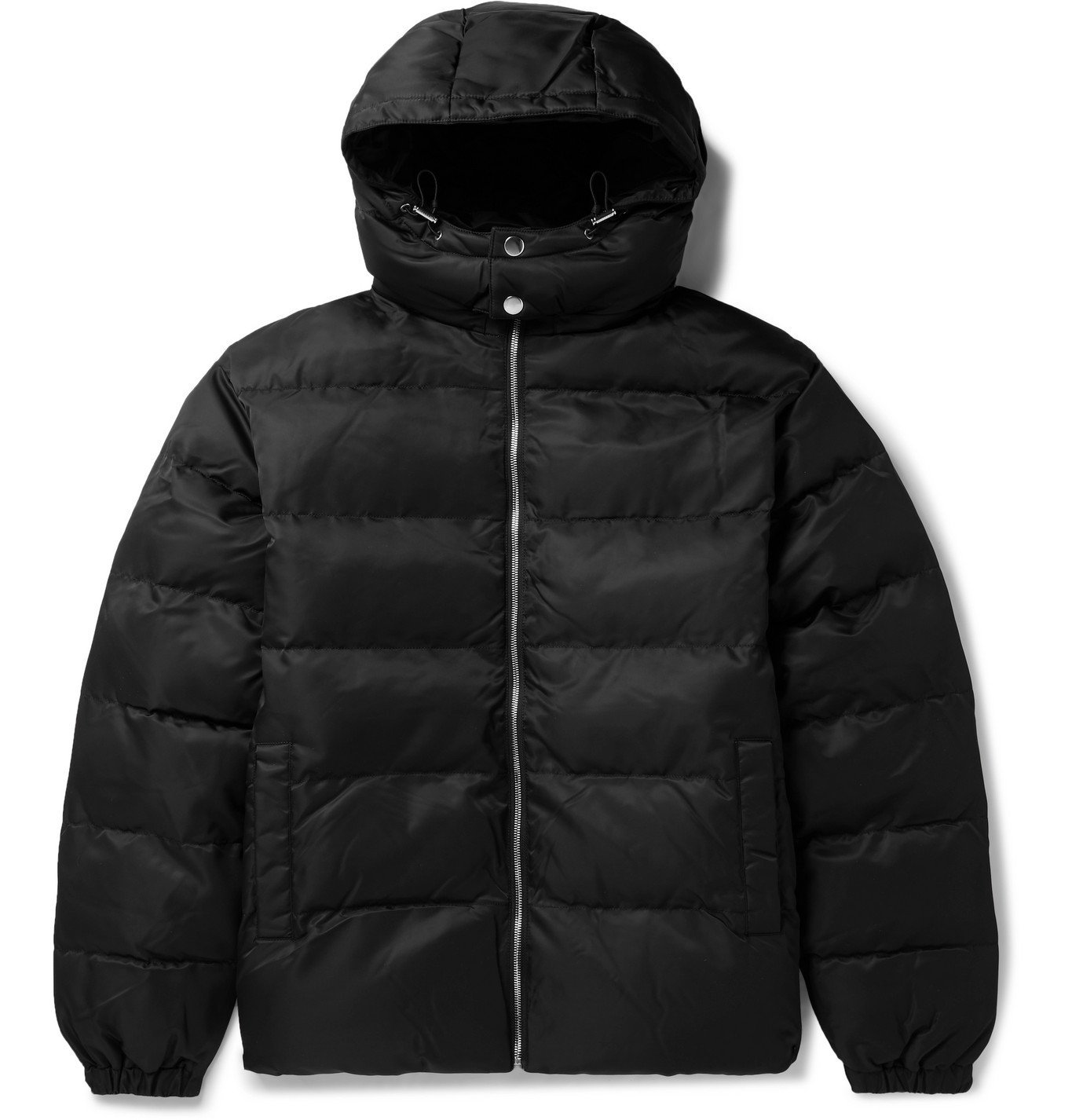 Photo: 1017 ALYX 9SM - Quilted Shell Hooded Jacket - Black