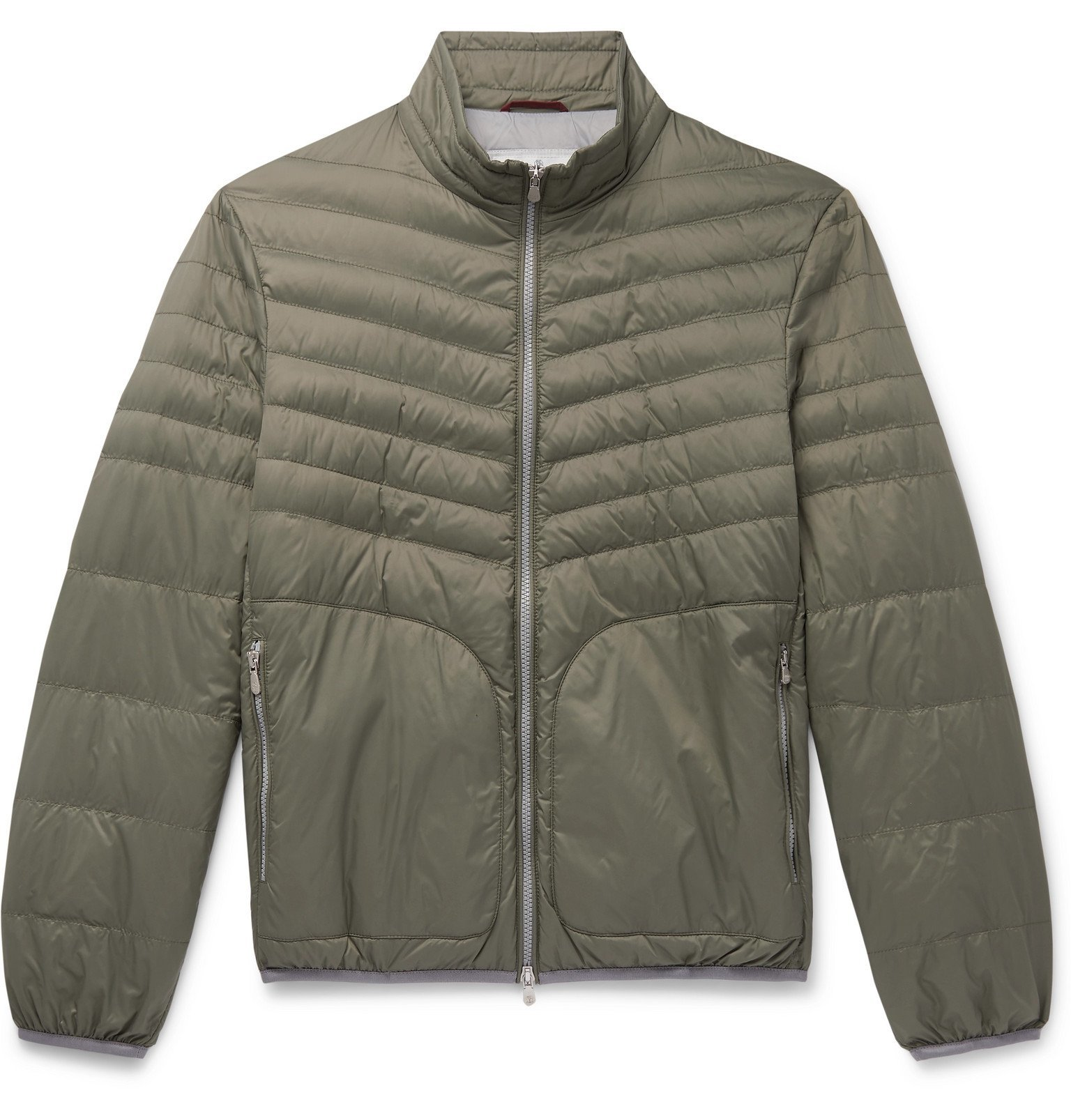 Photo: Brunello Cucinelli - Quilted Nylon Down Jacket - Green