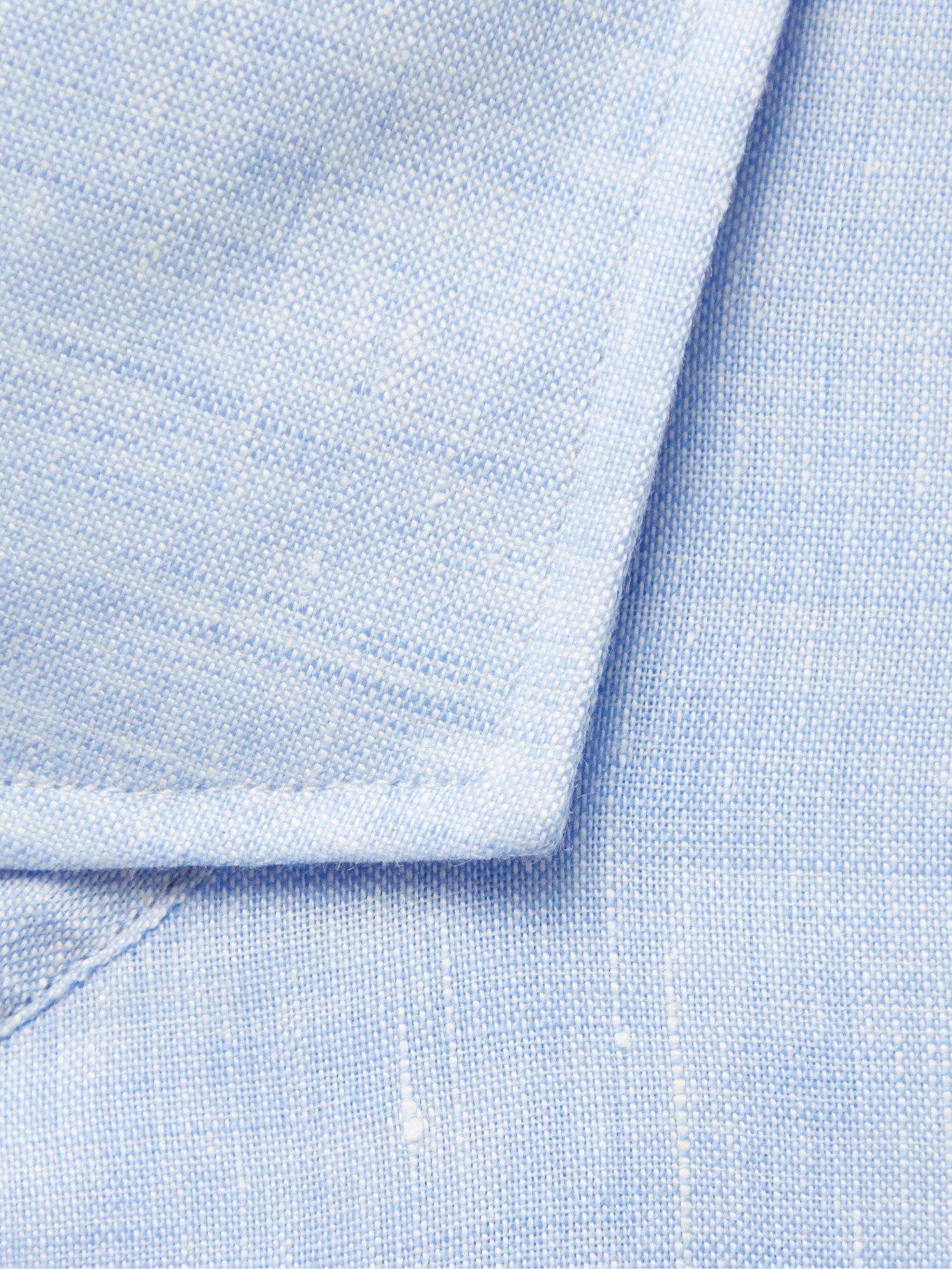 HUGO BOSS - Cutaway-Collar Linen Shirt - Blue