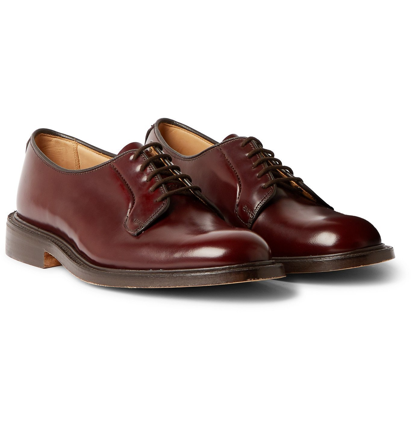Photo: Tricker's - Robert Leather Derby Shoes - Burgundy