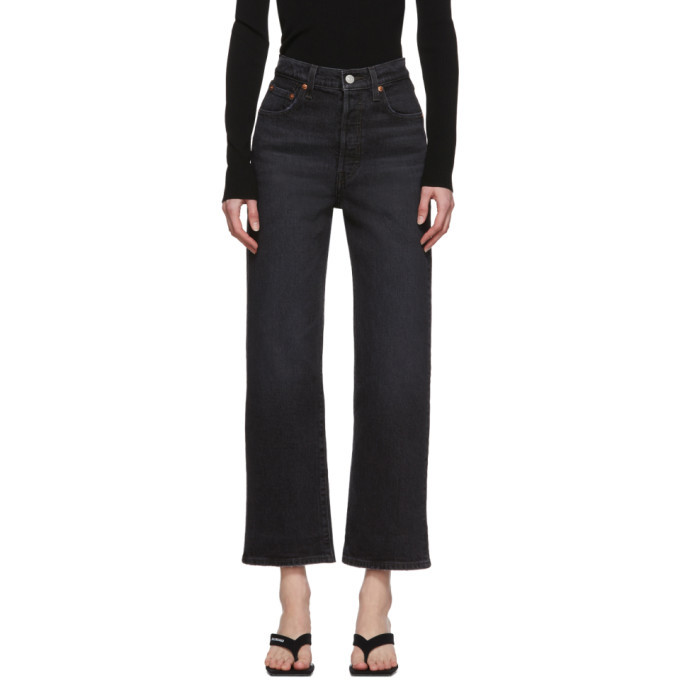 Photo: Levis Black Ribcage Straight Ankle Jeans
