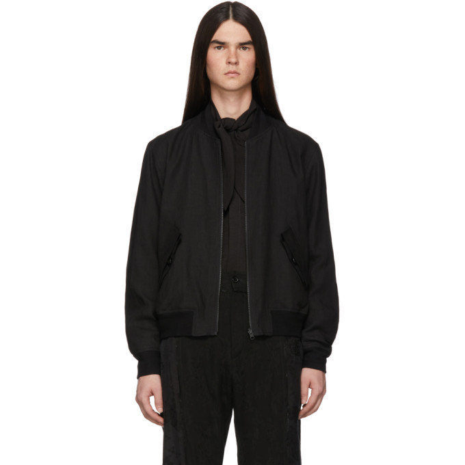 Photo: Ann Demeulemeester Reversible Black Indaco Bomber Jacket