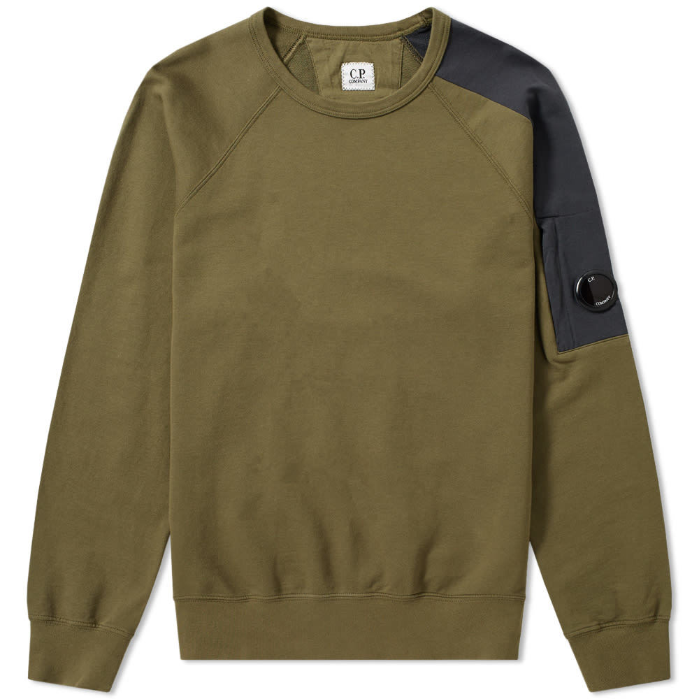 Photo: C.P. Company Raglan Contrast Arm Lens Sweat
