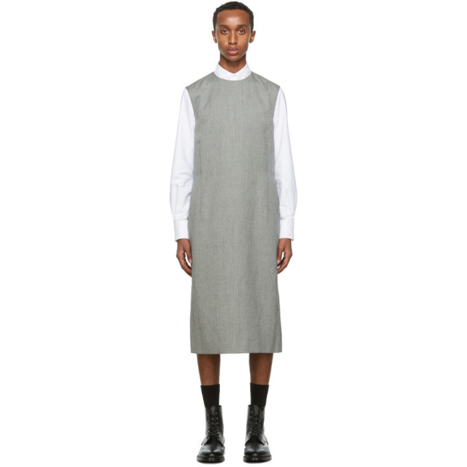 Photo: Thom Browne Black and White Heavy Wool Column Tunic