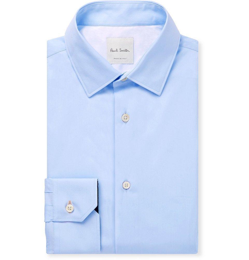 Photo: Paul Smith - Light-Blue Cotton-Poplin Shirt - Blue