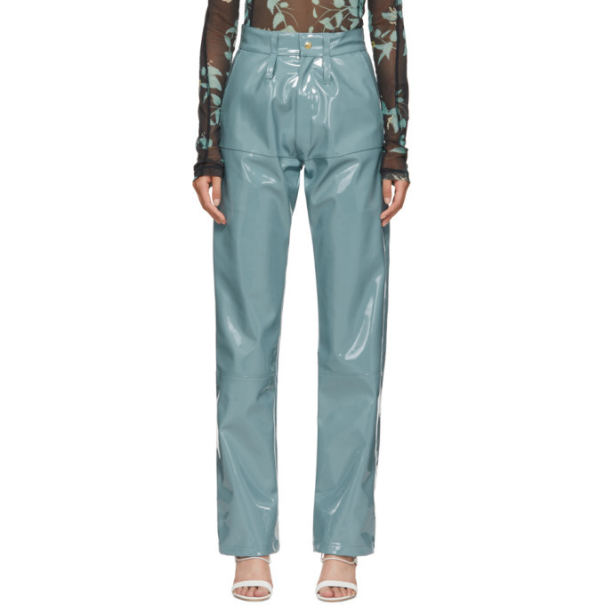 GmbH Blue Vinyl Marie Trousers