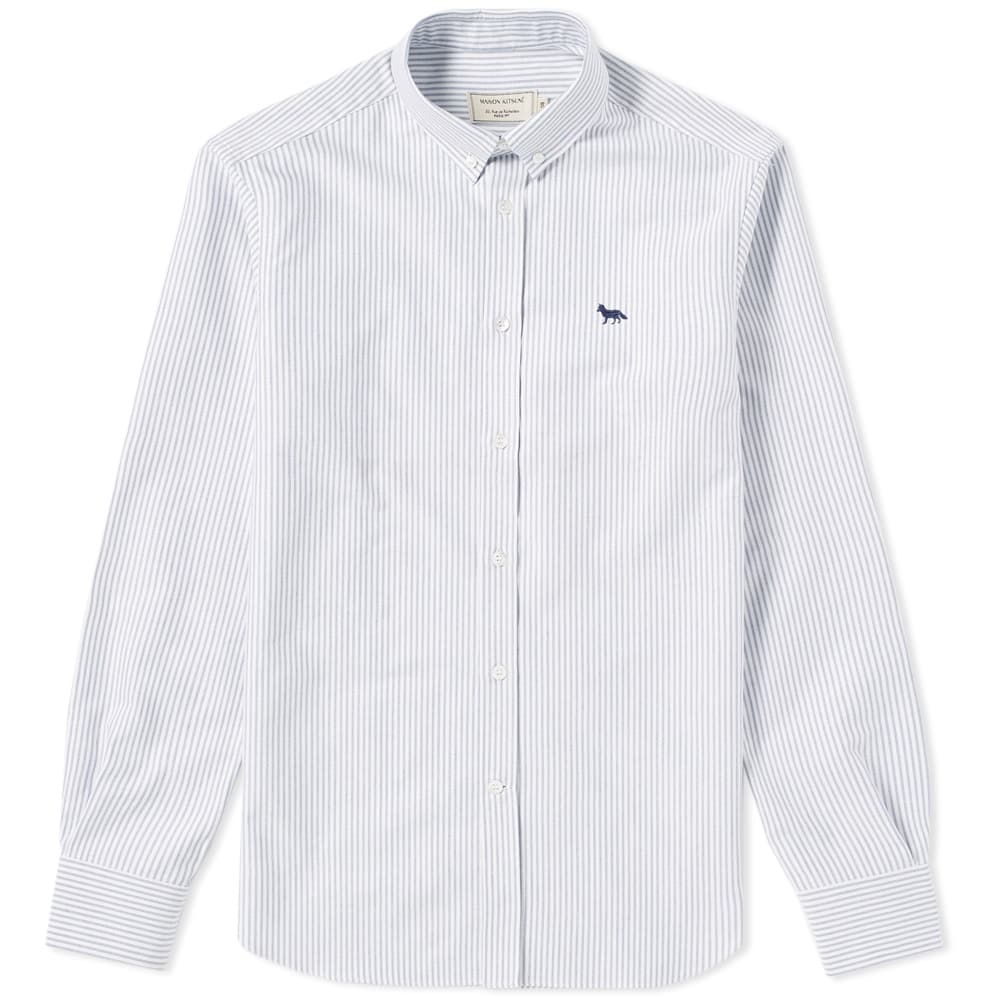 Photo: Maison Kitsuné Button Down Classic Embroidered Fox Shirt