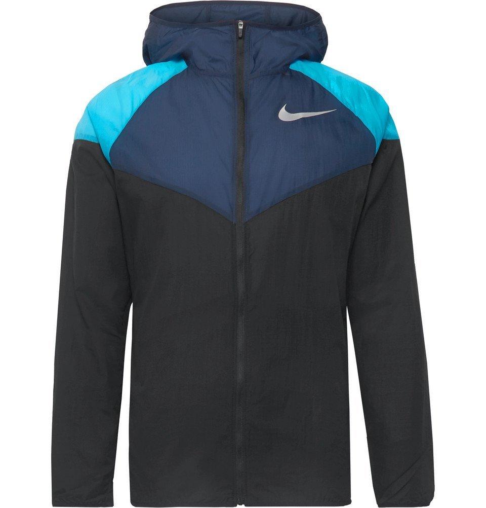 Nike Running - Windrunner Colour-Block Nylon-Ripstop Hooded Jacket - Men - Black