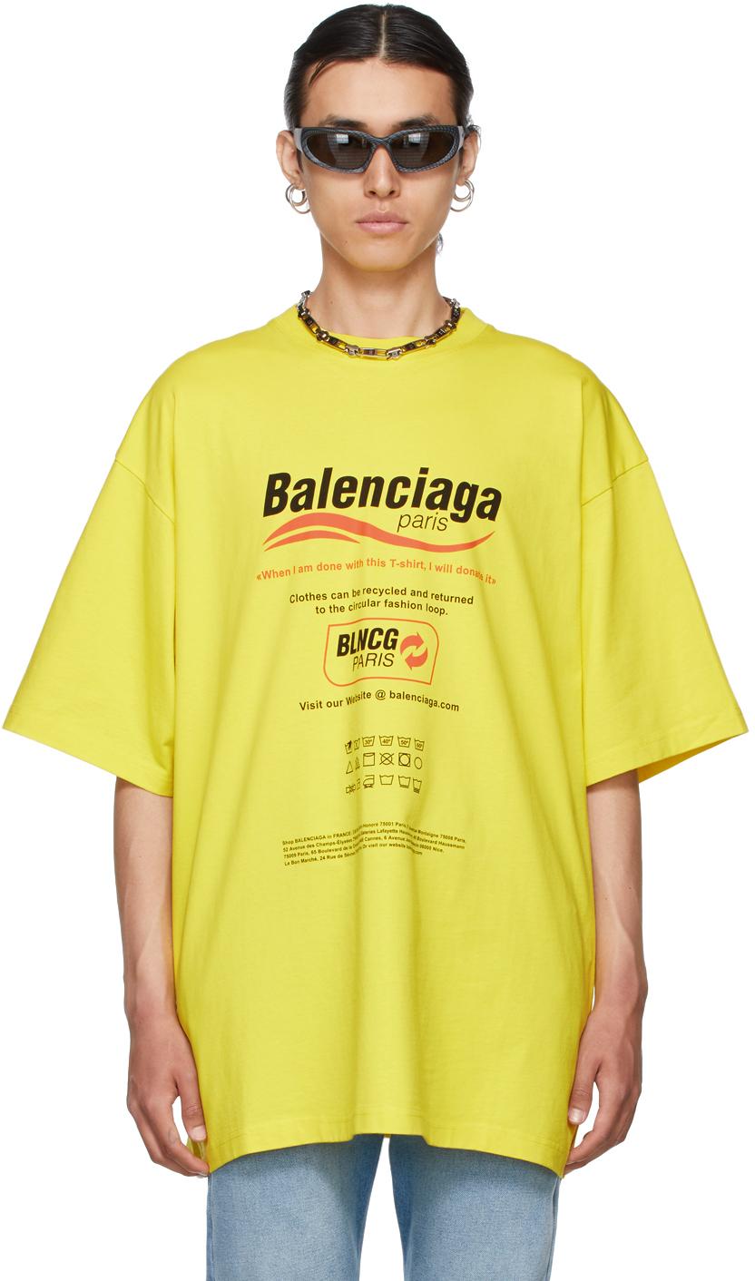 Photo: Balenciaga Yellow Dry Cleaning Boxy T-Shirt