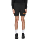 EDEN power corp Black Recycled Cotton Logo Lounge Shorts