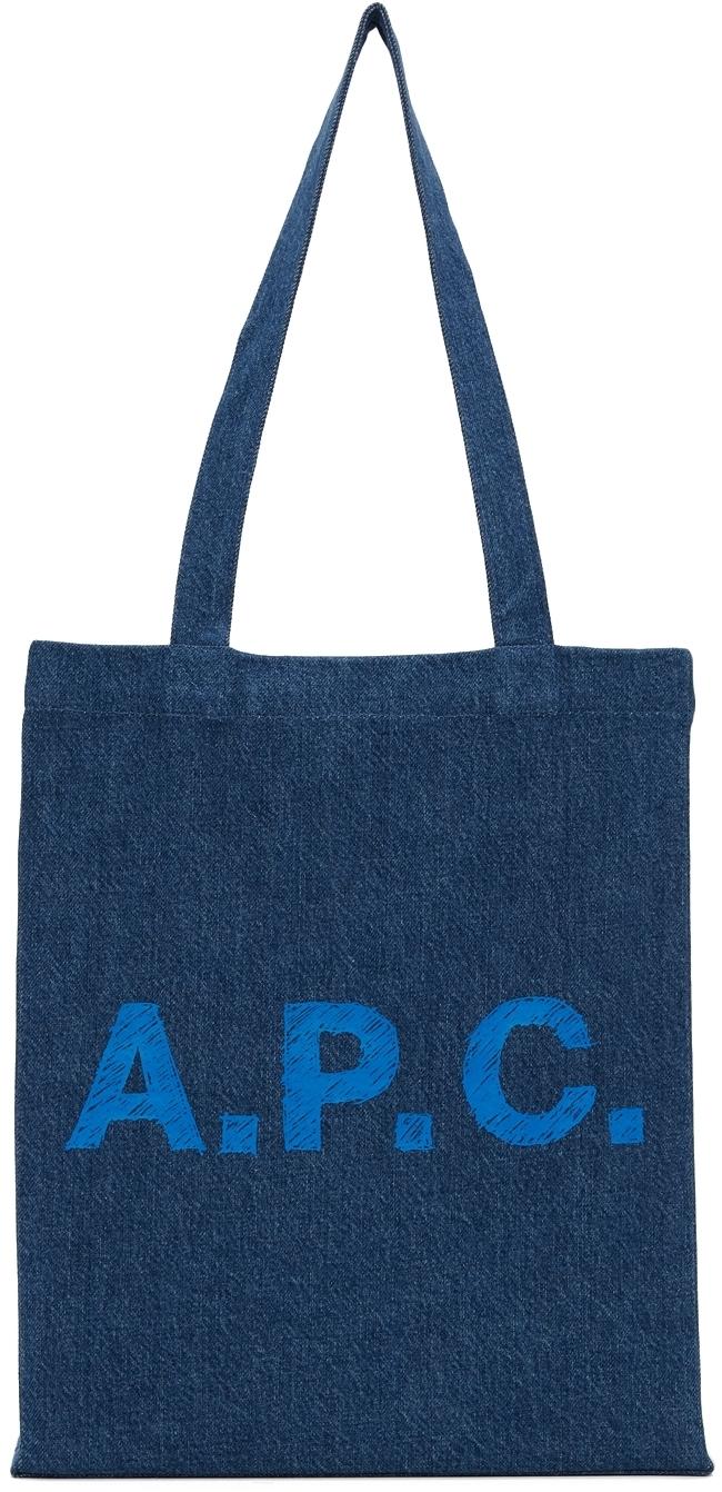 Photo: A.P.C. Denim Lou Tote Bag