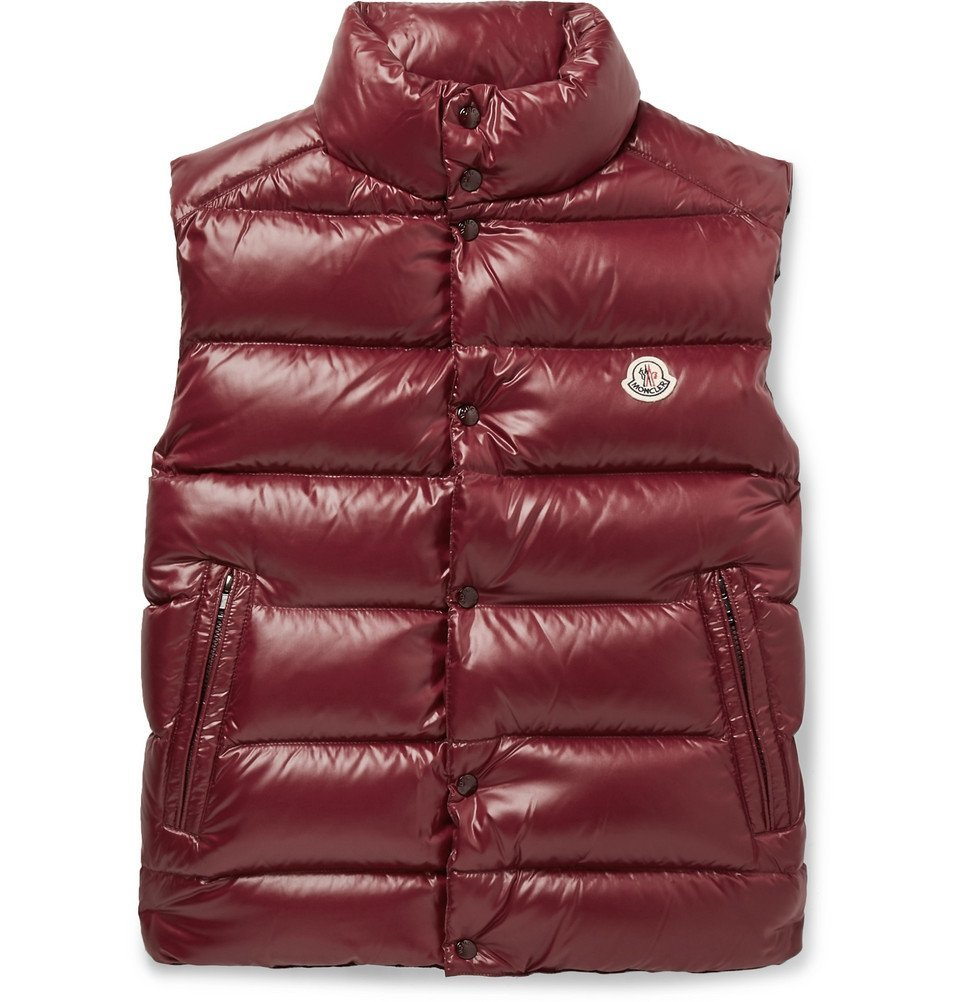 Photo: Moncler - Tib Slim-Fit Quilted Shell Down Gilet - Burgundy