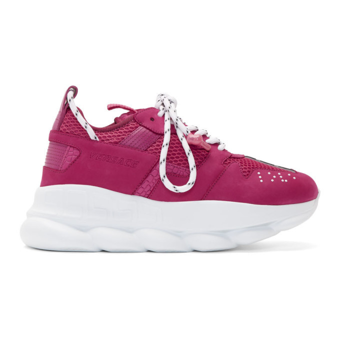 Photo: Versace Pink Chain Reaction 2 Sneakers