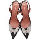 Amina Muaddi Black AWGE Edition Phoenix Sling Heels
