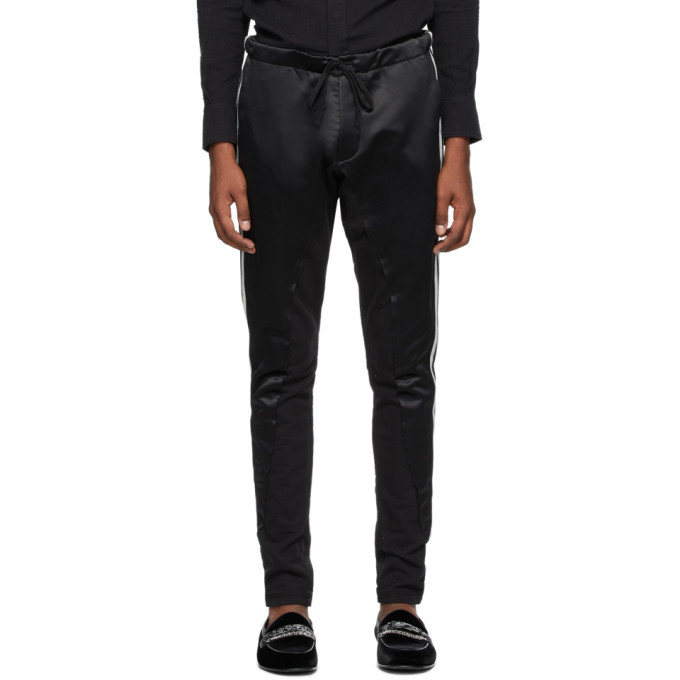 Photo: Greg Lauren Black 50/50 Long Slim Lounge Pants