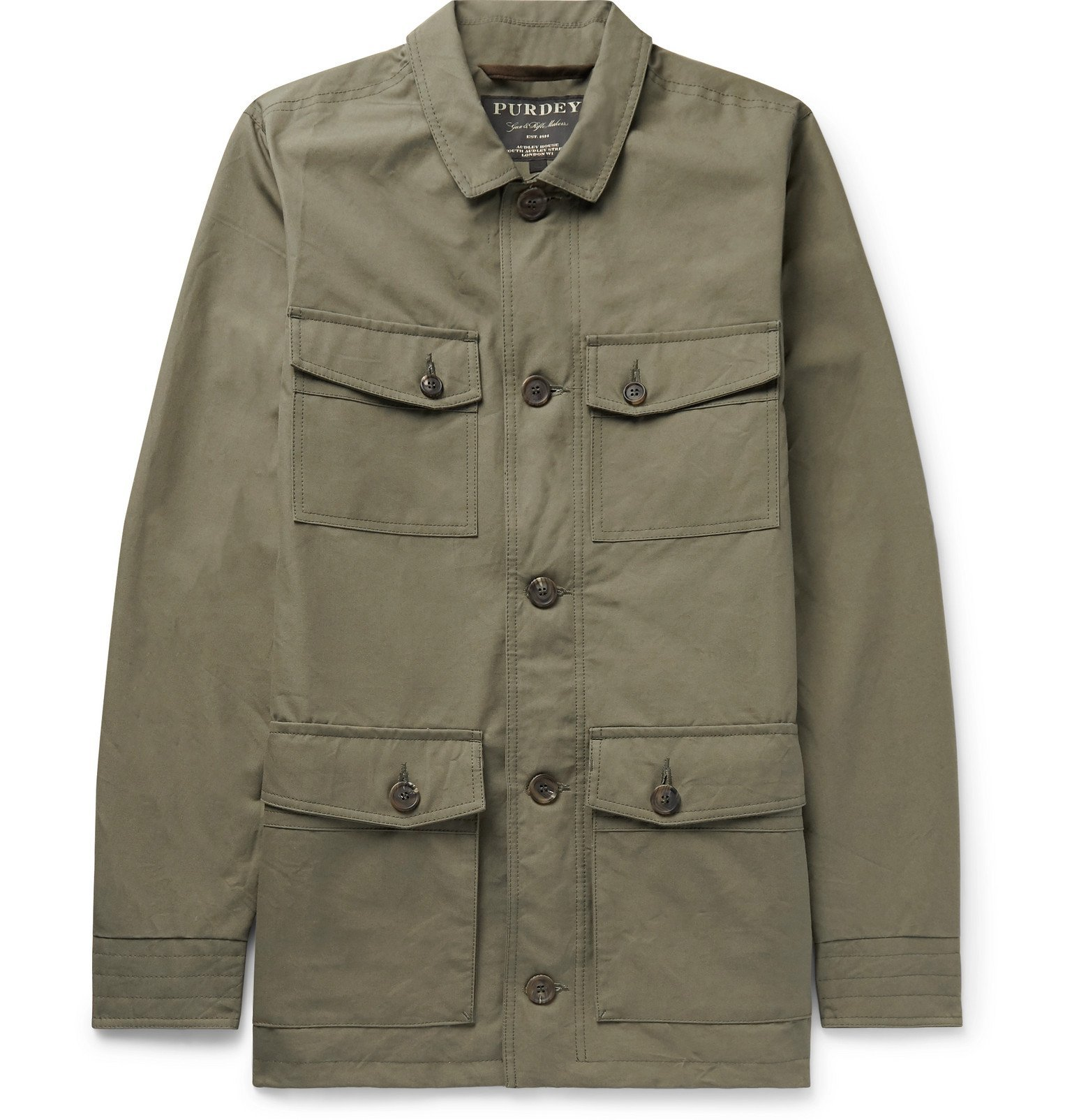 Photo: James Purdey & Sons - Percival Cotton-Ventile Utility Jacket - Green