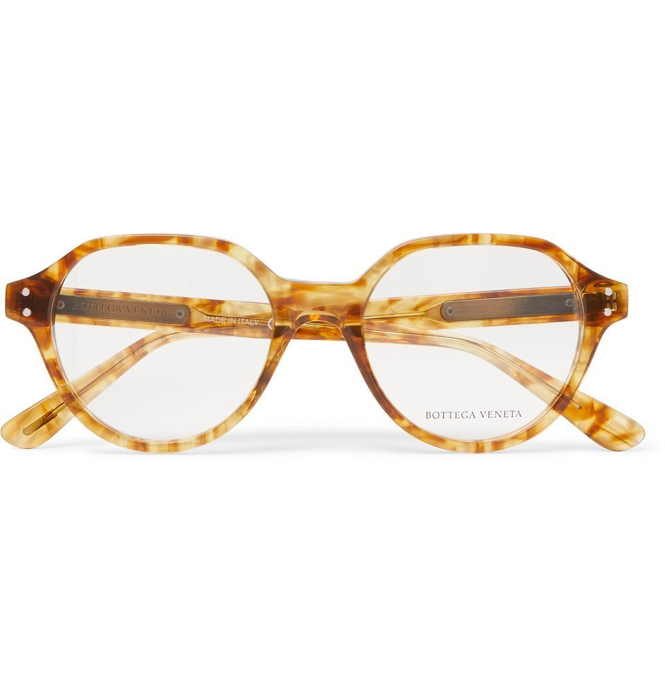 Bottega Veneta - Round-Frame Tortoiseshell Acetate Optical Glasses - Clear