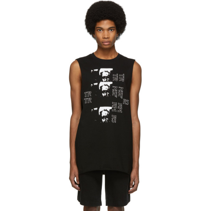 Photo: Raf Simons Black Toya Sleeveless T-Shirt