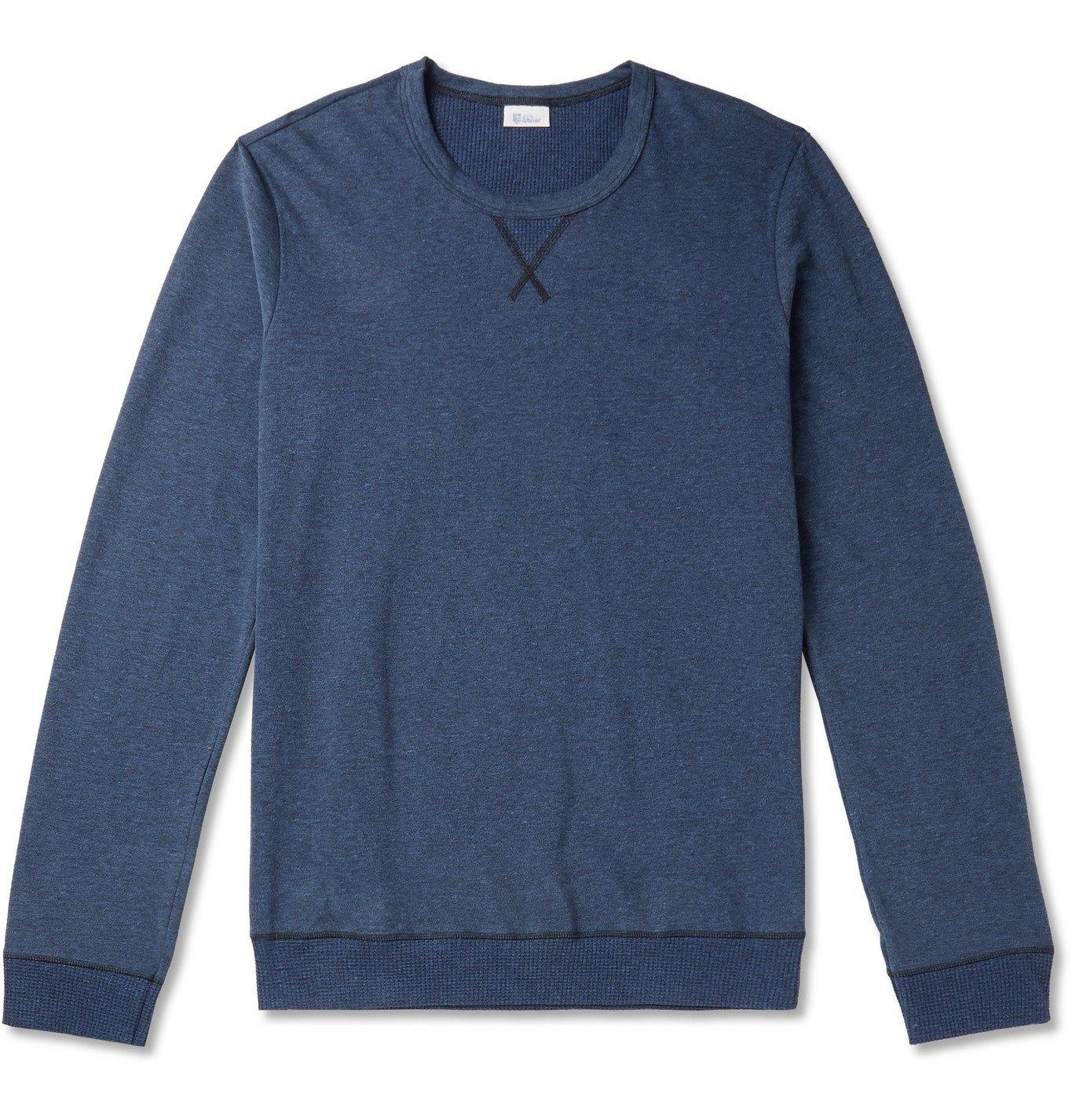 Schiesser - Hugo Slim-Fit Mélange Cotton-Jersey Sweatshirt - Blue