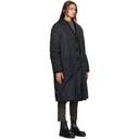 Raf Simons Reversible Black Faux-Fur Labo Coat
