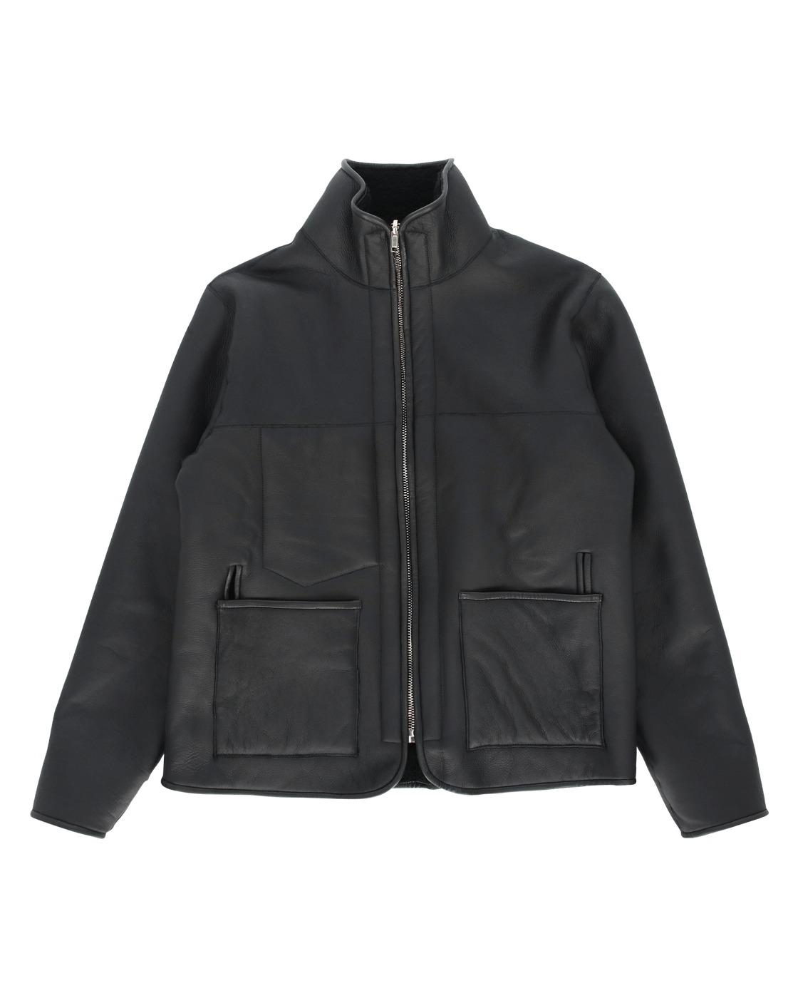 Aries Sheepskin Mesh Jacket Black