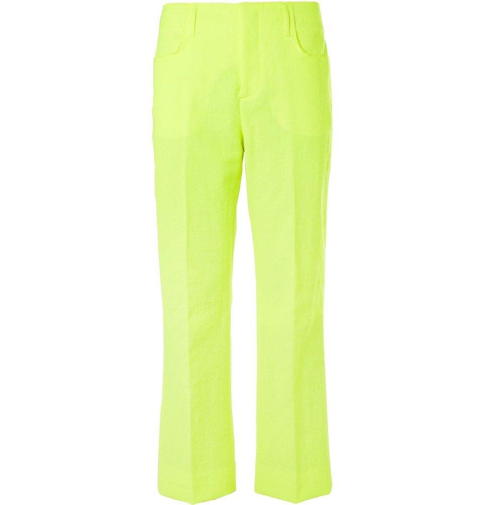 Photo: Acne Studios - Neon-Yellow Jabir Linen-Blend Trousers - Yellow