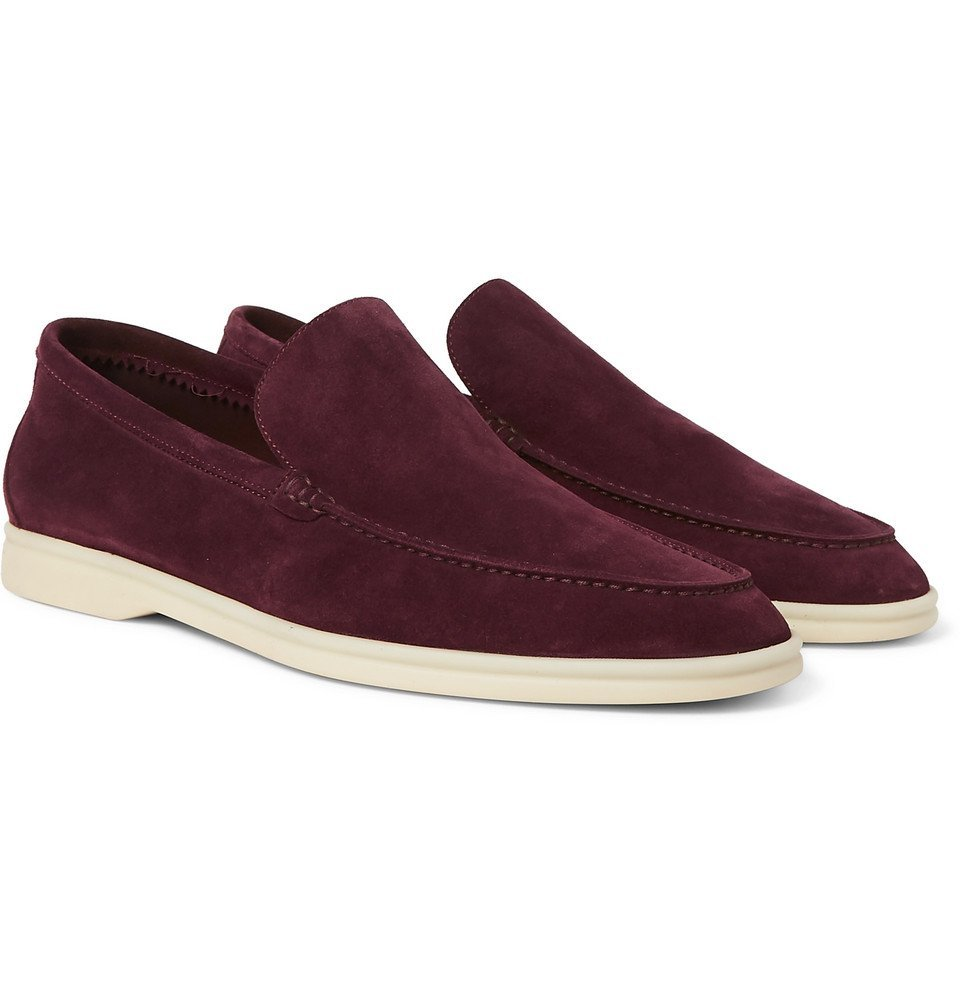 Photo: Loro Piana - Summer Walk Suede Loafers - Burgundy
