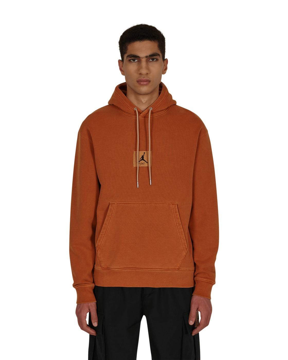 Photo: Nike Jordan Flight Heritage Hooded Sweatshirt Dark Russet
