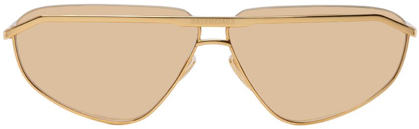 Photo: Balenciaga Gold Shiny BB0138S Sunglasses