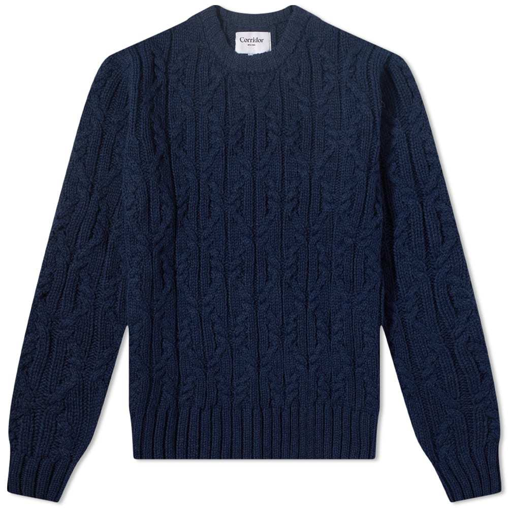 Photo: Corridor Reef Knot Cable Crew Knit