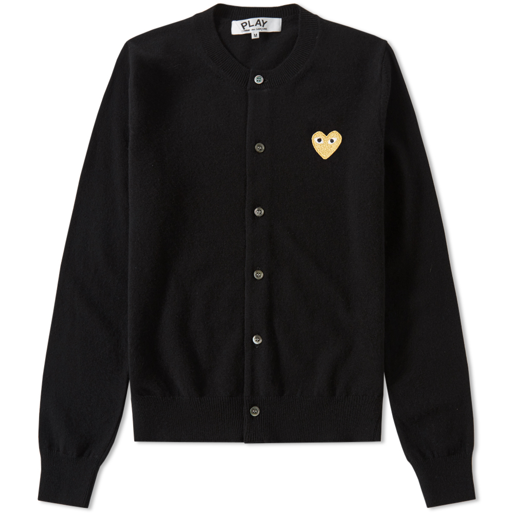 Photo: Comme des Garcons Play Women's Gold Heart Cardigan