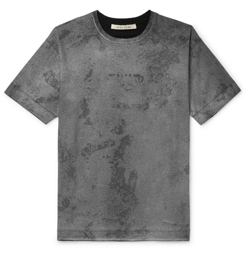 Photo: 1017 ALYX 9SM - Logo and Camouflage-Print Cotton-Jersey T-Shirt - Gray