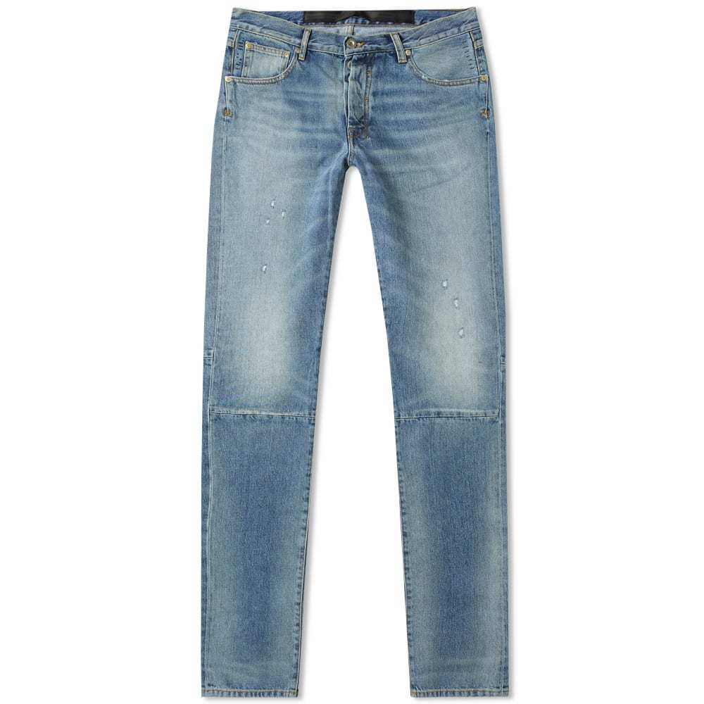Photo: Unravel Project Repaired Skinny Jean Washed Blue