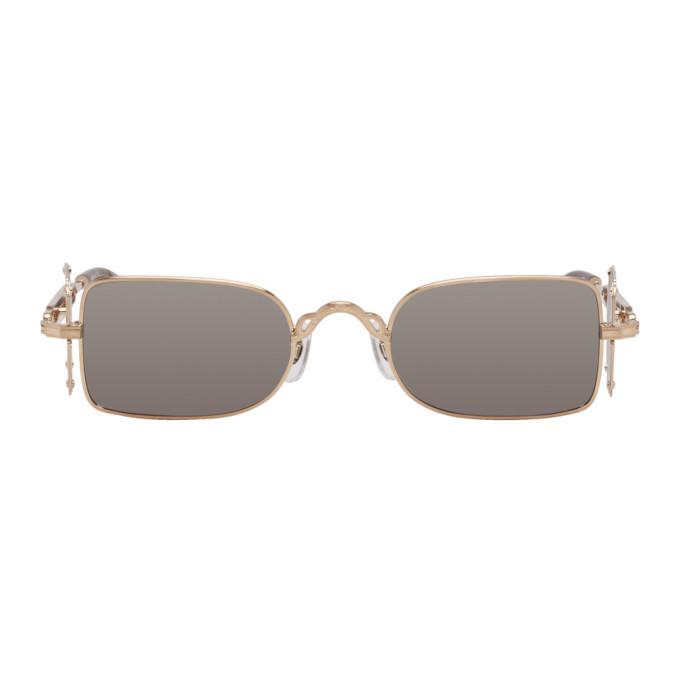 Photo: Matsuda Gold Brushed 10611H Sunglasses