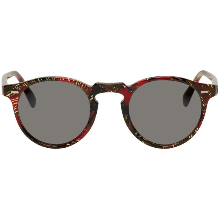 7630987dca Oliver Peoples pour Alain Mikli Red Gregory Peck Sunglasses Oliver ...