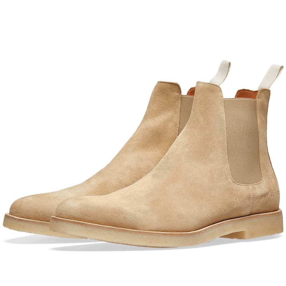 Photo: Common Projects Chelsea Boot Suede Tan