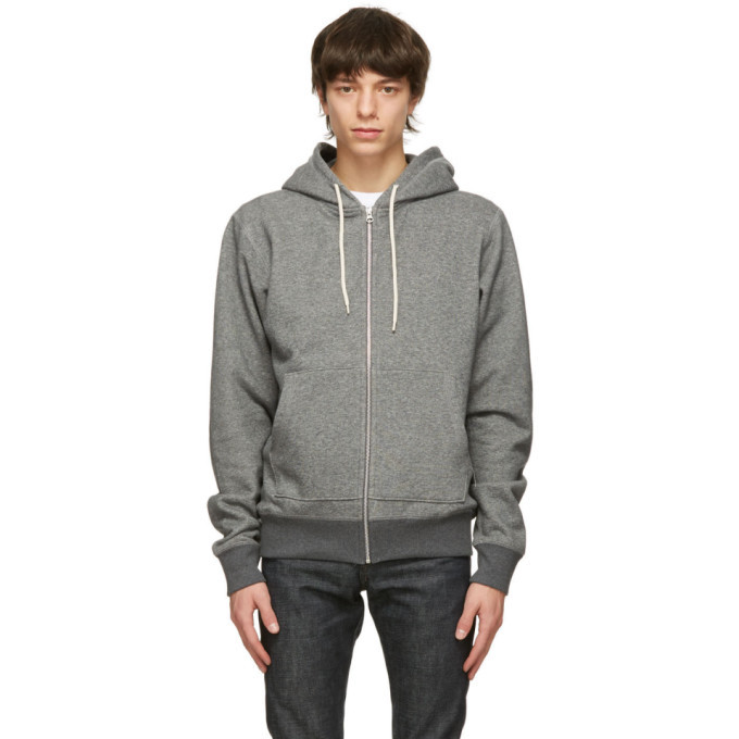 Photo: Naked and Famous Denim Grey Heavyweight Hoodie