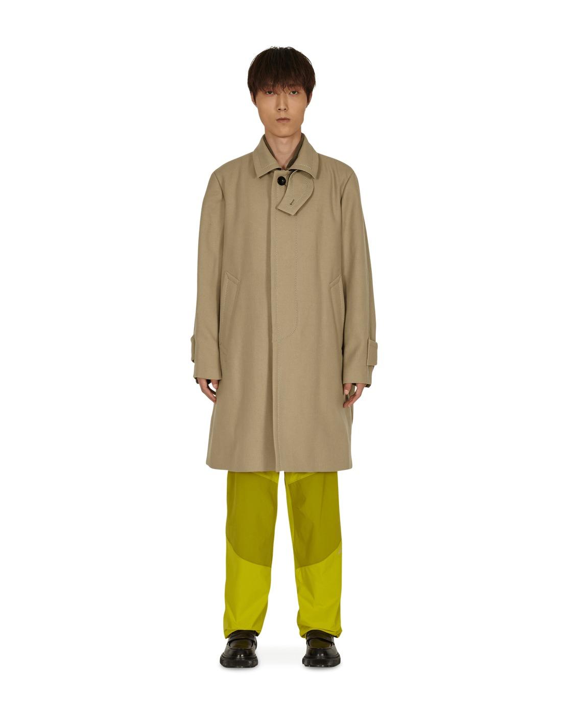 Sacai Melton Wool Coat Beige