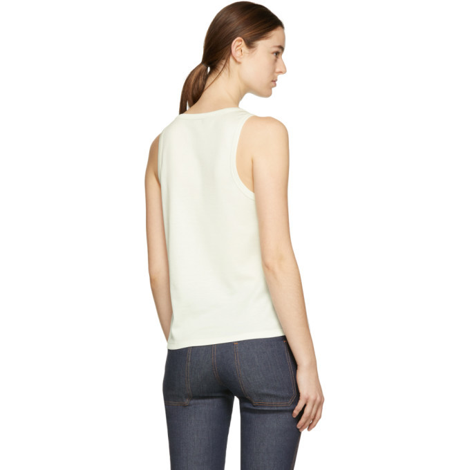 Bottega Veneta Ivory Flower Patch Tank Top